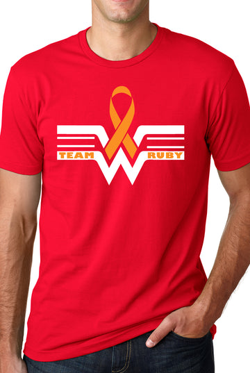Team Ruby Adult Lightweight Tee Red