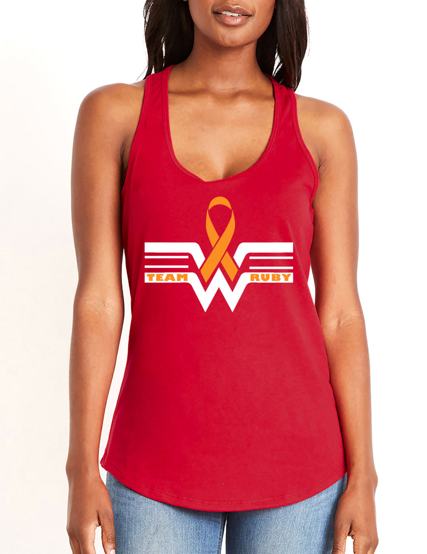 Team Ruby Women's gather back tank red