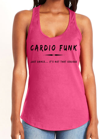 Women's gather back tank Hot Pink Cardio Funk