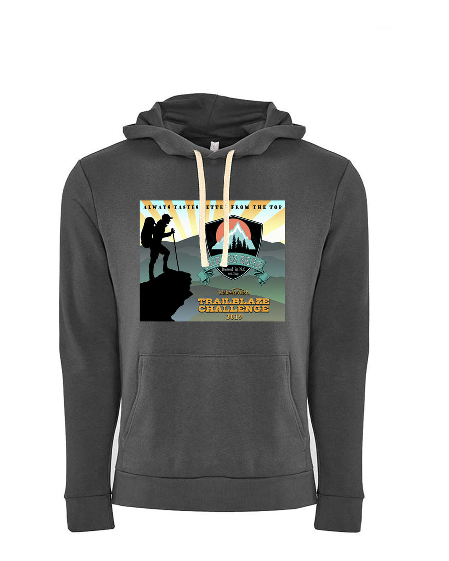 Trailblaze Challenge Next Level Fleece Pullover Hoodie Graphite Grey