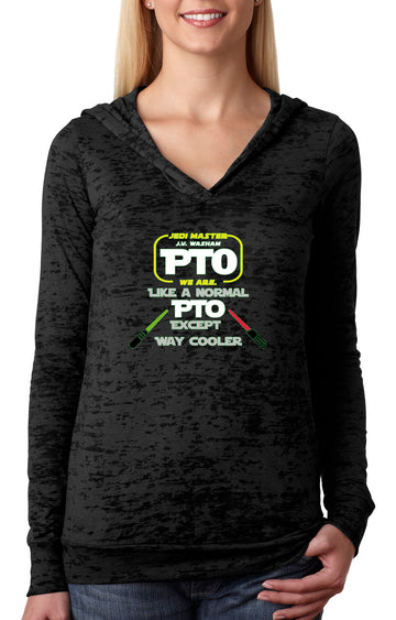 PTO Jedi WOMENS BURNOUT HOODY black