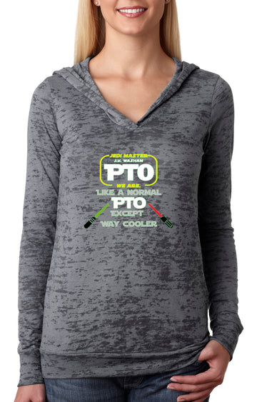PTO Jedi WOMENS BURNOUT HOODY grey
