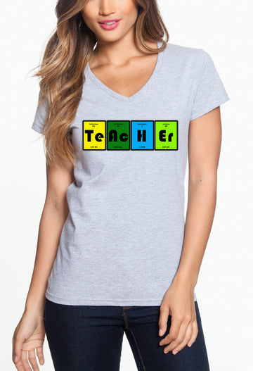 Teacher table - Women's Lightweight V-Neck Tee heather grey