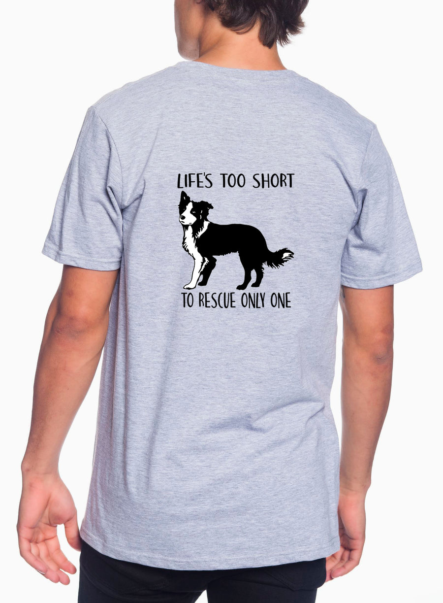 Life's Too Short Adult Lightweight Tee Heather Grey