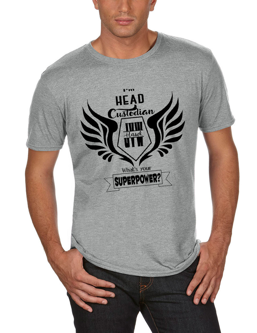 Head Custodian Adult Lightweight Tee Heather Grey
