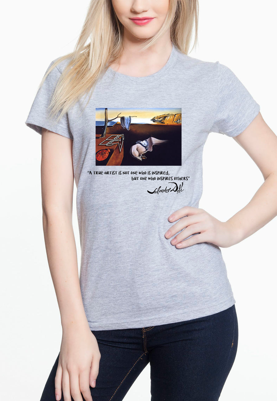 Dali Women's Lightweight Tee Heather grey