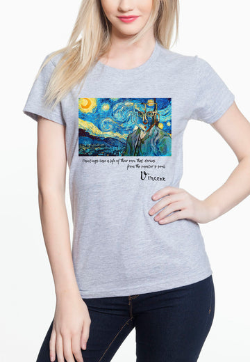 Van Gogh Women's Lightweight Tee Heather Grey