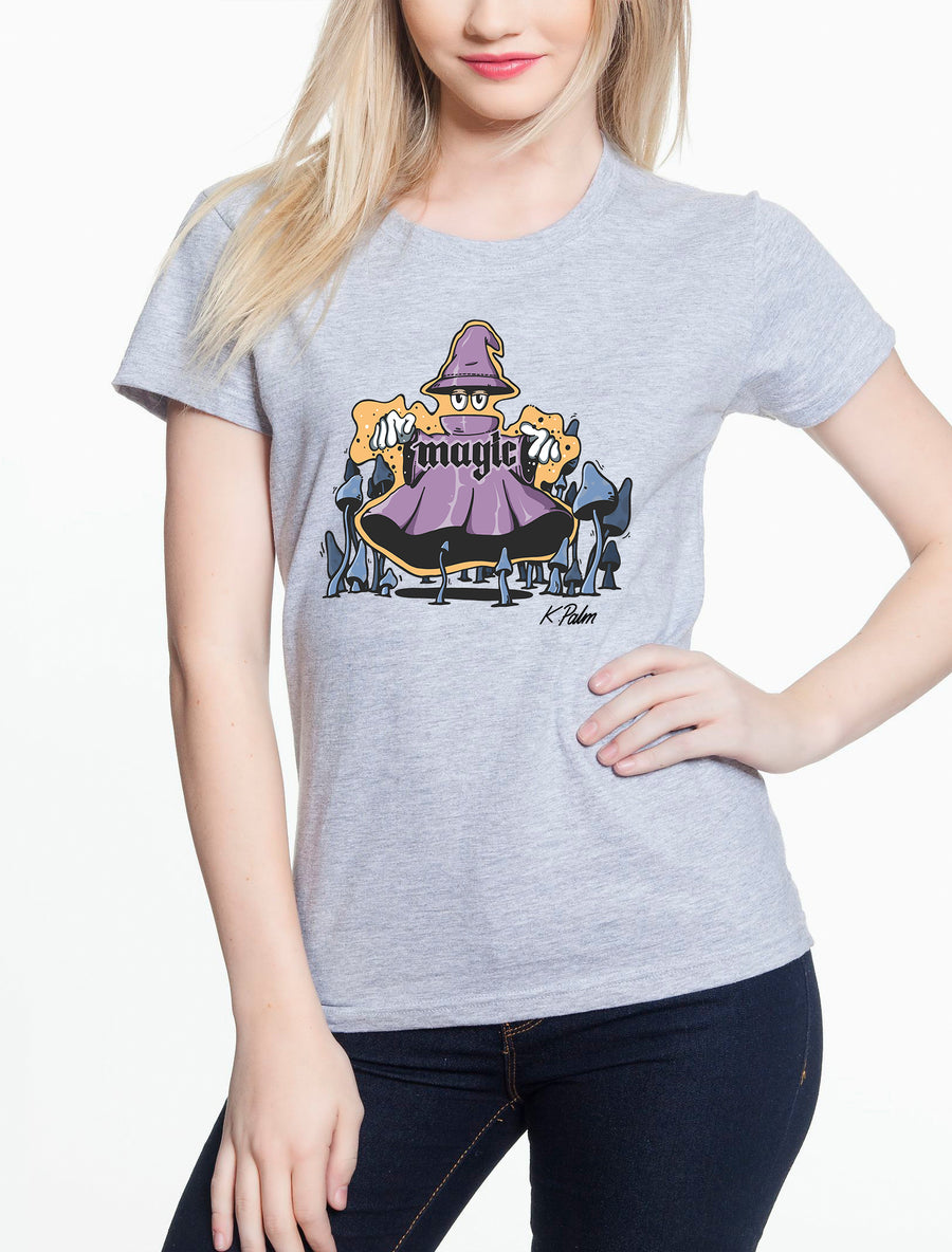 Magic Women's Lightweight Tee Heather grey