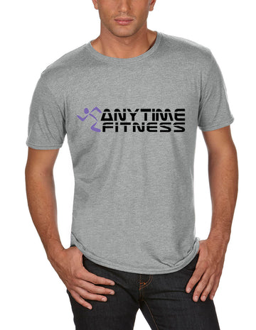 Anytime Fitness Adult Lightweight Tee Heather Grey