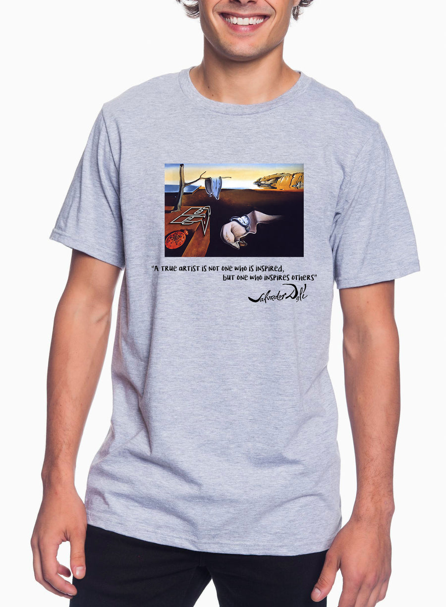 Dali Tribute Adult Lightweight Tee Heather Grey