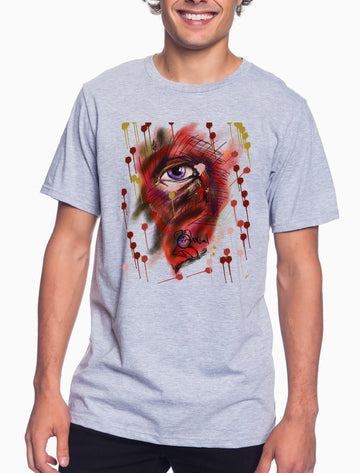 Eye Adult Lightweight Tee Heather Grey