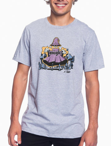 Magic Adult Lightweight Tee Heather Grey
