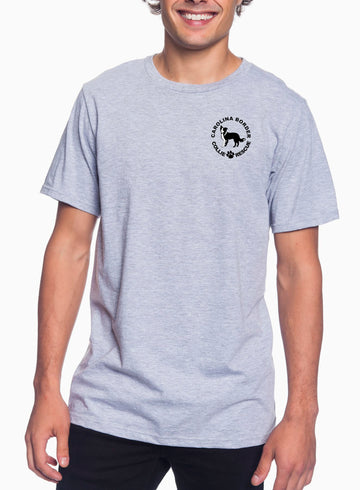 Just throw it Adult Lightweight Tee Heather Grey