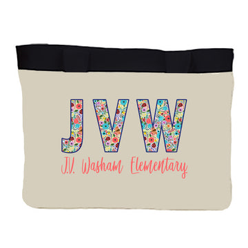 Medium Zippered tote JVW Floral 1