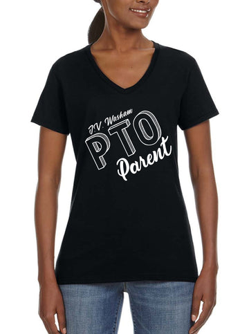 PTO Parent - Women's Lightweight V-Neck Tee black