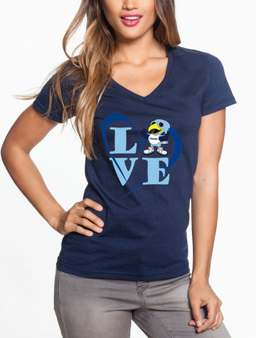 Love Hawk - Women's Lightweight V-Neck Tee navy