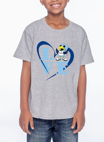 Love Hawk Youth Lightweight Tee Heather Grey