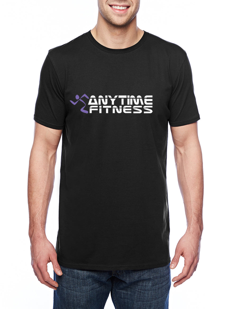 Anytime Fitness Adult Lightweight Tee Black