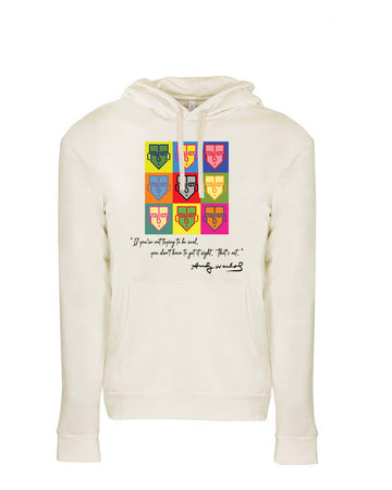 Warhol Tribute Next Level Fleece Pullover Hoodie Natural