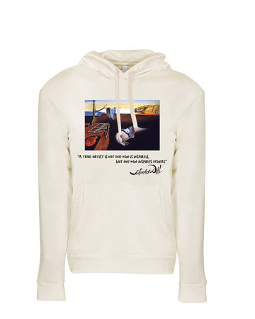 Dali Tribute Next Level Fleece Pullover Hoodie Natural