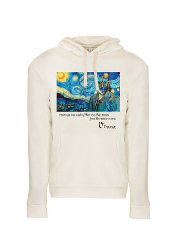 Van Gogh Tribute Next Level Fleece Pullover Hoodie Natural