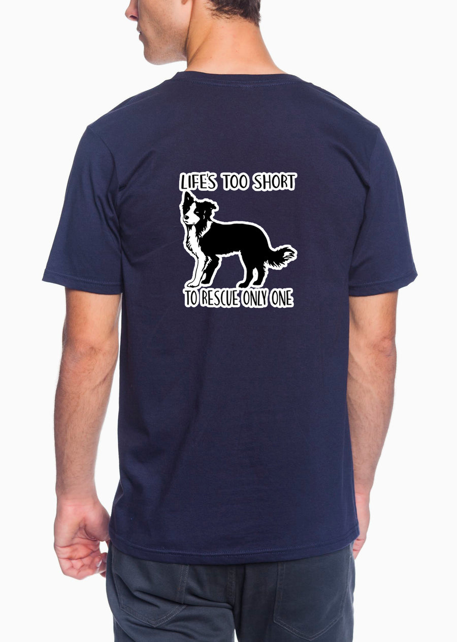 Life's Too Short Adult Lightweight Tee Navy