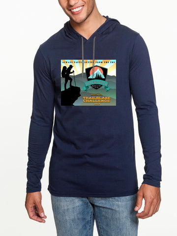 Trailblaze Challenge Long sleeve hooded T-shirt Navy