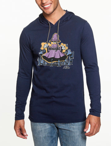 Magic Long Sleeve hooded T-shirt Navy