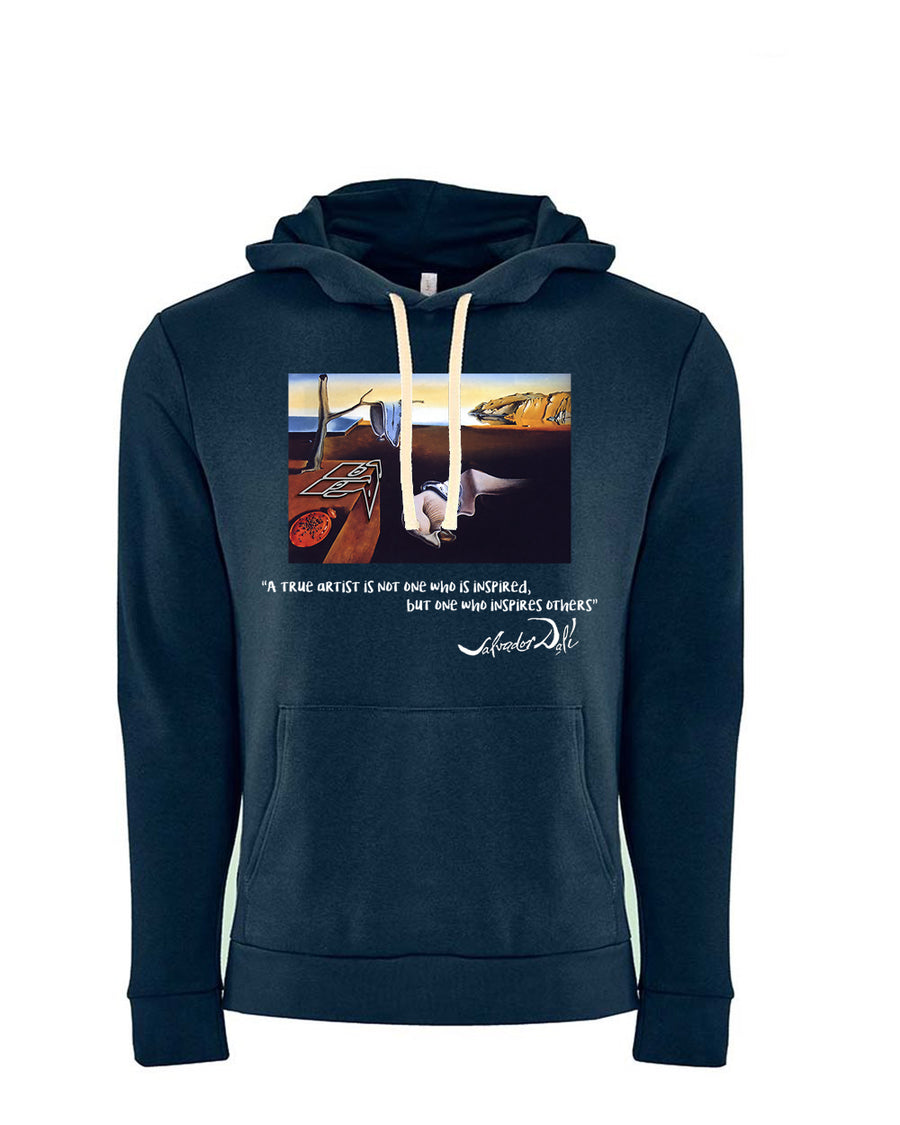 Dali Tribute Next Level Fleece Pullover Hoodie Midnight Navy