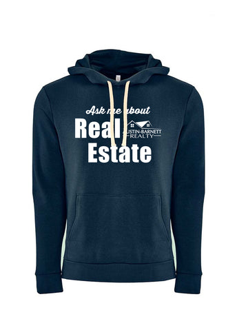 Change Lives Next Level Fleece Pullover Hoodie Midnight navy