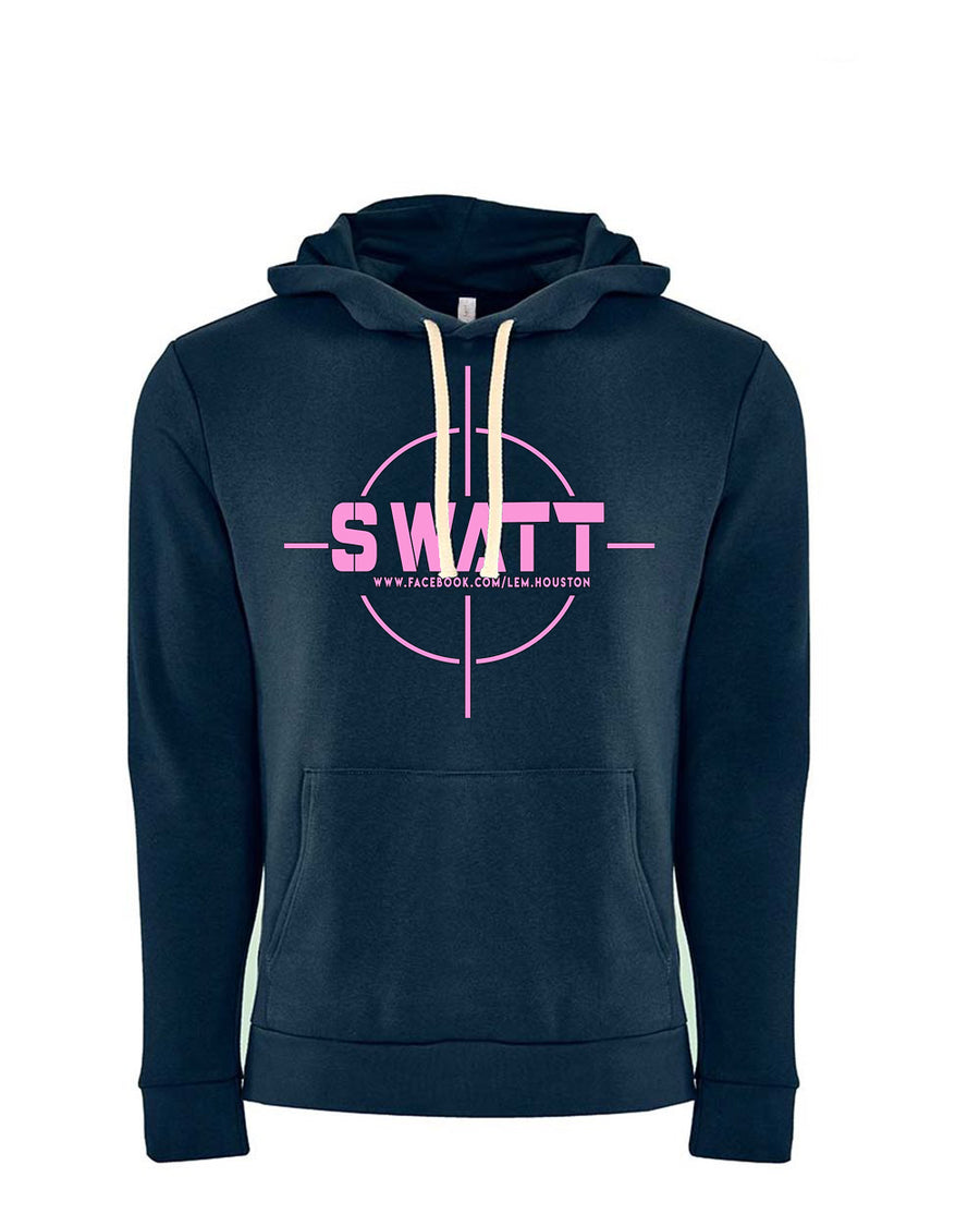 SWATT Pink Next Level Fleece Pullover Hoodie Midnight Navy
