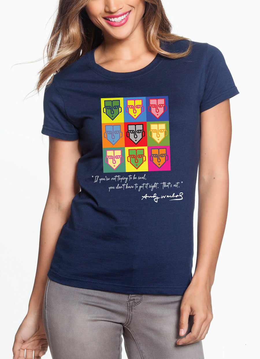 Warhol Women's Lightweight Tee Navy