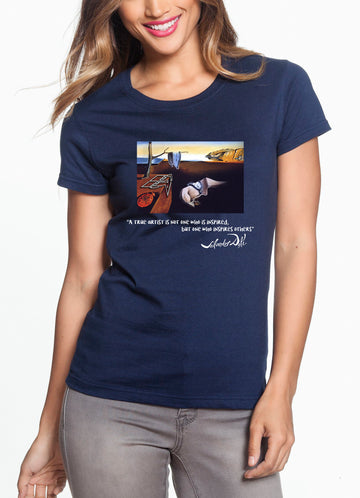Dali Women's Lightweight Tee Navy