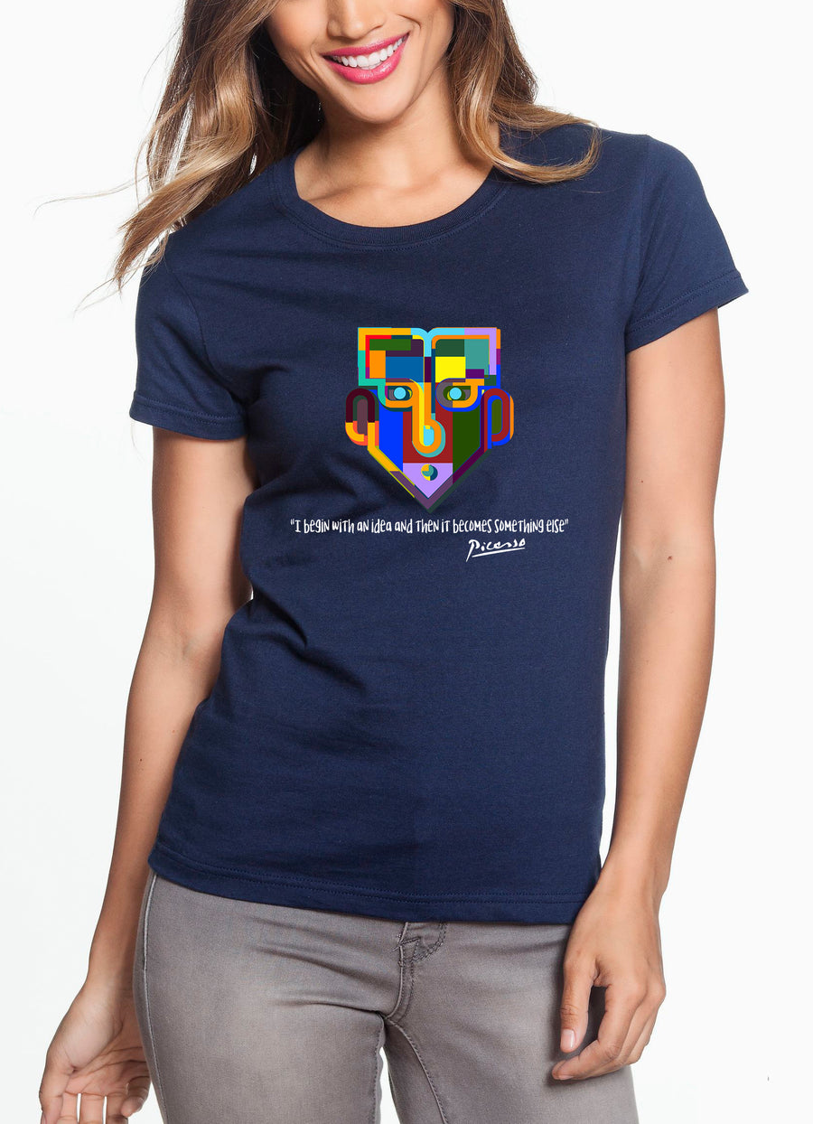 Picasso Women's Lightweight Tee Navy