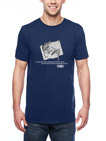 M.C. Escher Tribute Adult Lightweight Tee Navy
