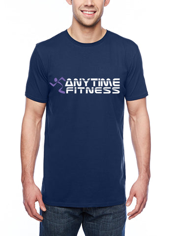 Anytime Fitness Adult Lightweight Tee Navy