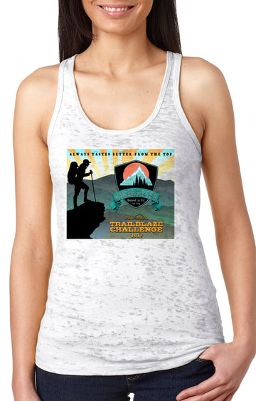 Trailblaze Challenge Women's Burnout Racerback Tank White
