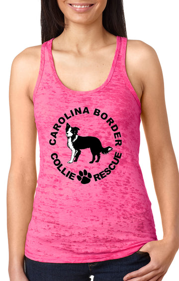 CBCR Logo Burnout Tank Shocking pink