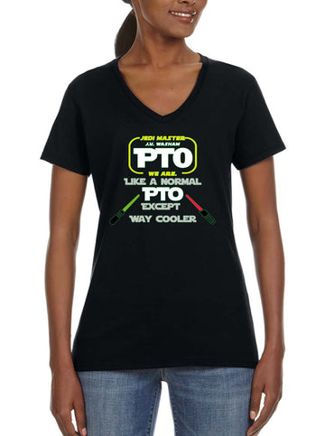 PTO Jedi - Women's Lightweight V-Neck Tee black