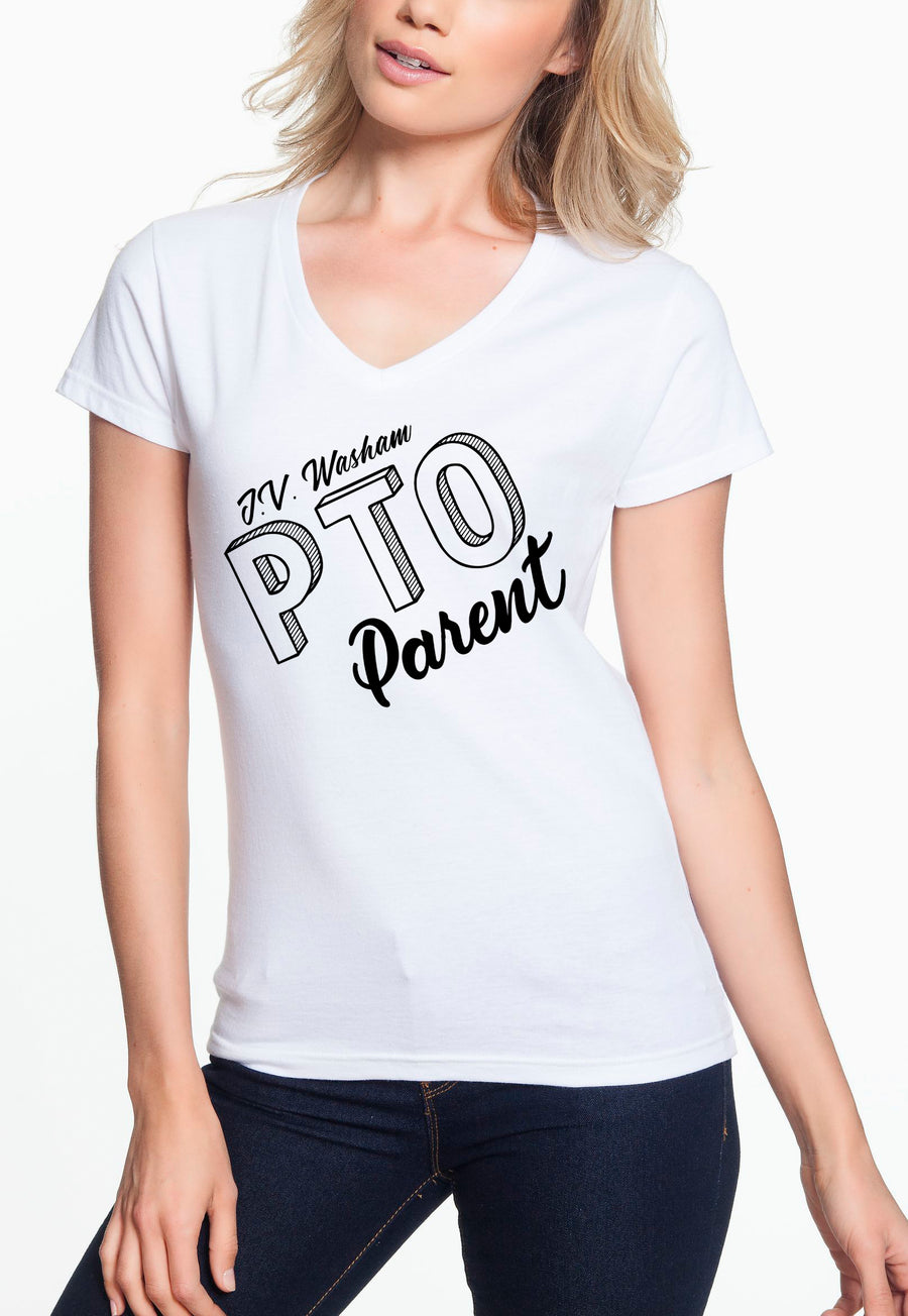 PTO Parent - Women's Lightweight V-Neck Tee white
