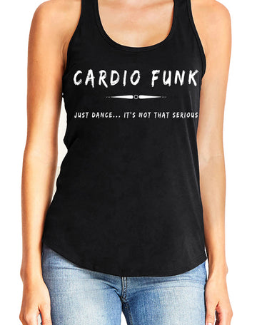 Women's gather back tank black Cardio Funk