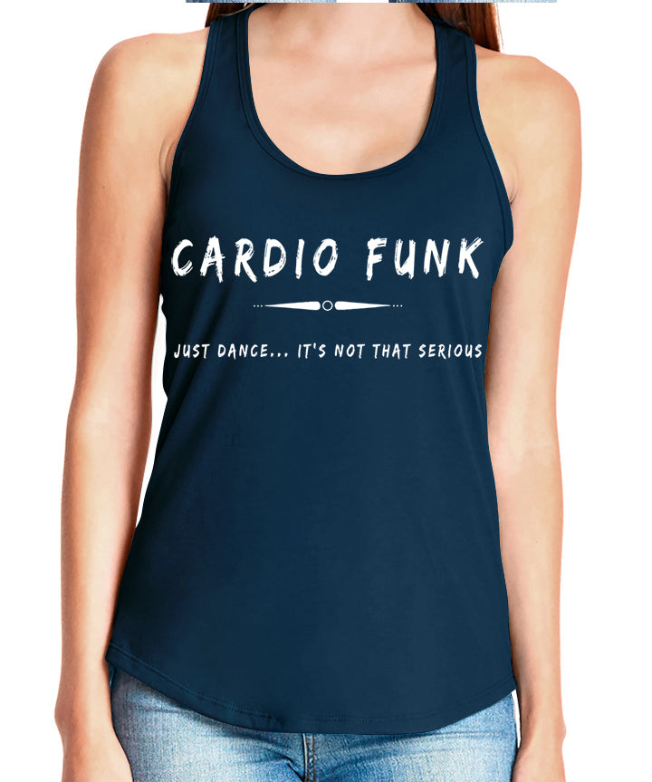 Women's gather back tank Navy Cardio Funk