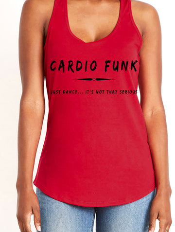 Women's gather back tank Red Cardio Funk
