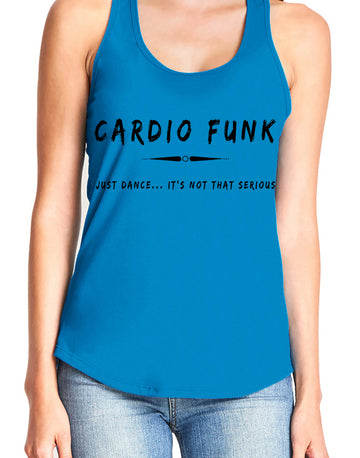 Women's gather back tank Turquoise Cardio Funk