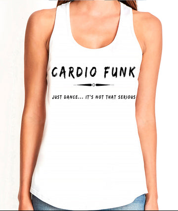 Women's gather back tank White Cardio Funk