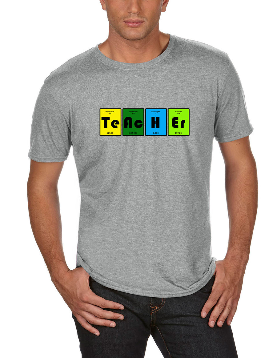 Teacher table Adult Lightweight Tee heather grey