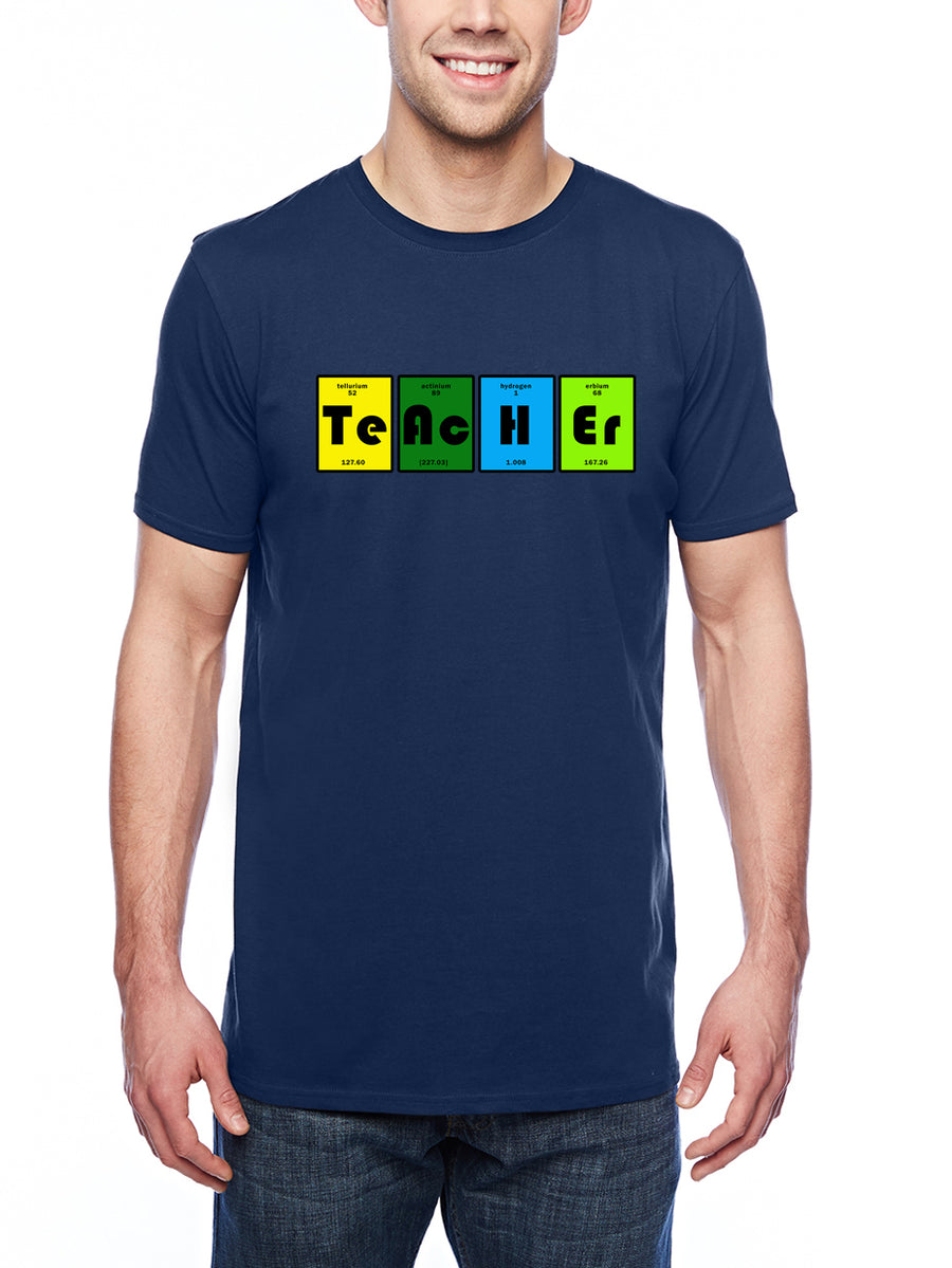 Teacher table Adult Lightweight Tee navy