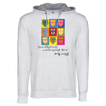 Warhol Next Level French Terry Hoodie White and grey