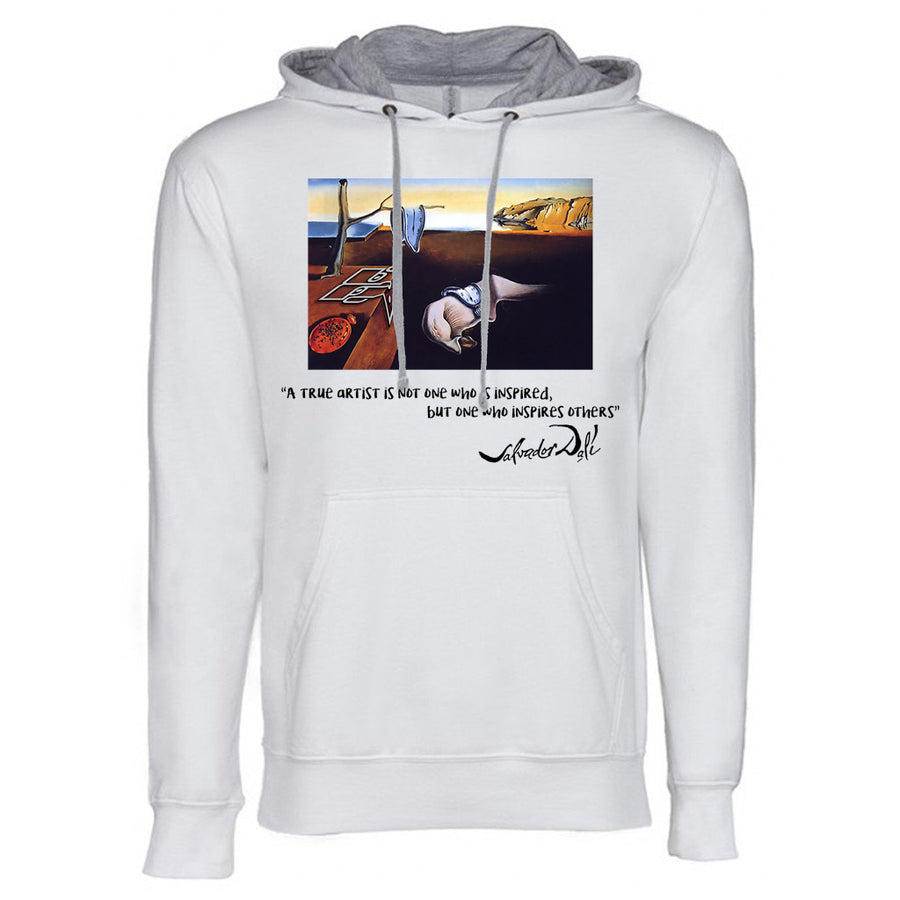 Dali Next Level French Terry Hoodie White and grey