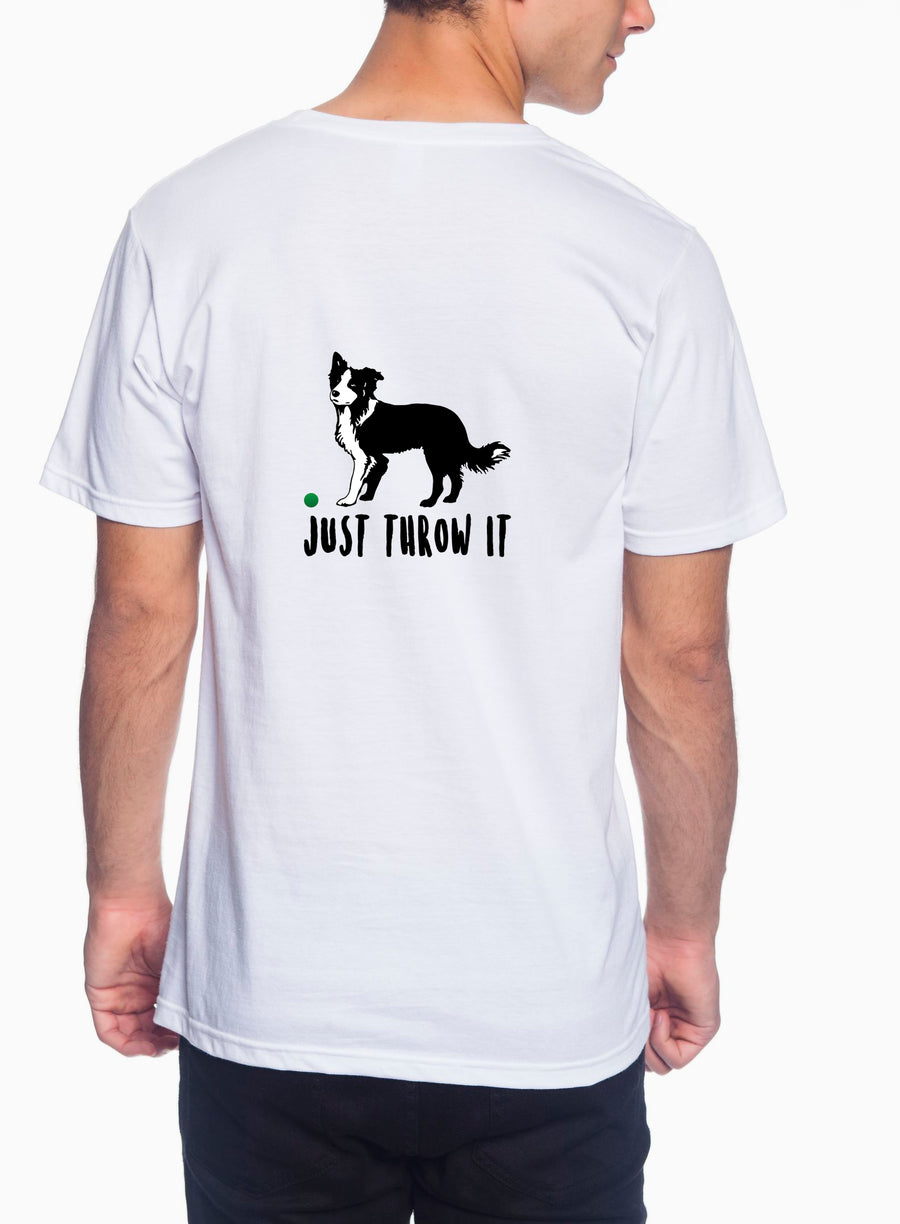 Just throw it Adult Lightweight Tee White